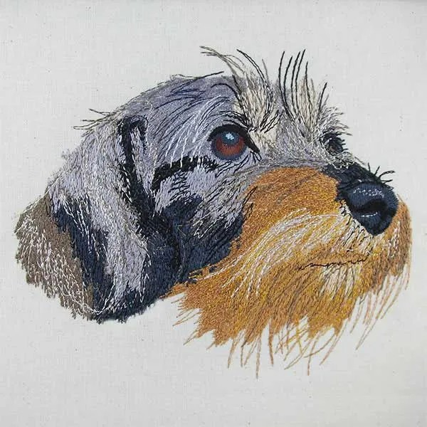 Embroidery Design Dachshund Eddie