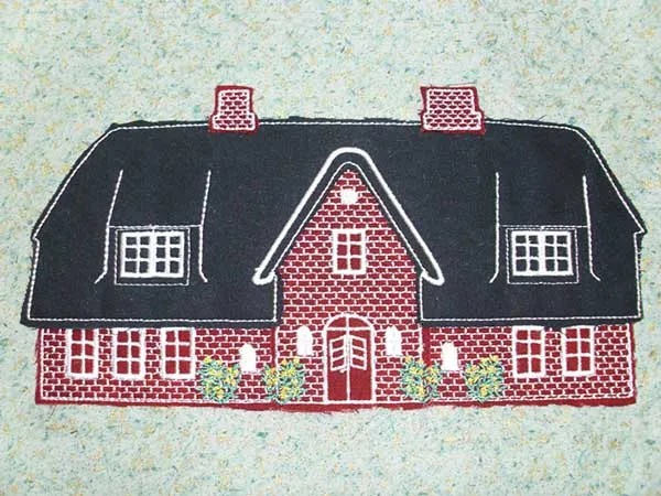Embroidery Design Frisian House Doodle