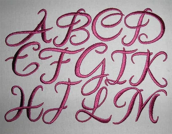 Embroidery Design Letter Set Laura