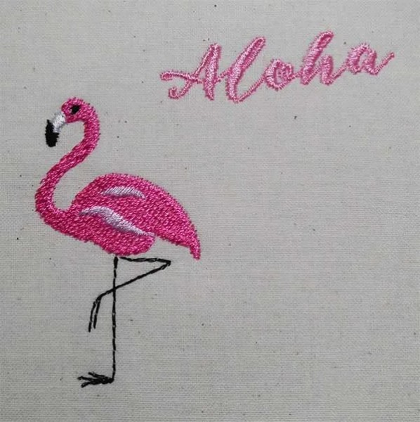 Embroidery Design Flamingo Alhoa