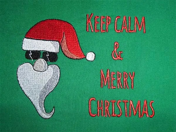 Embroidery Design Cool Santa C