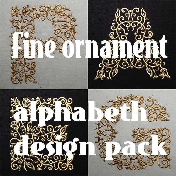 Embroidery Design Fine Ornaments Letter Set