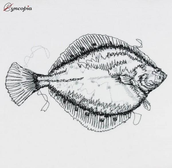 Embroidery Design Plaice Scribble