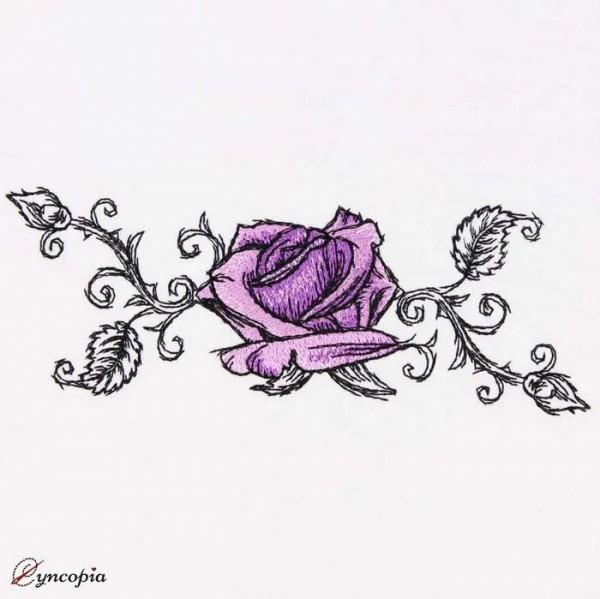 Stickdatei Rose Romantic No 6
