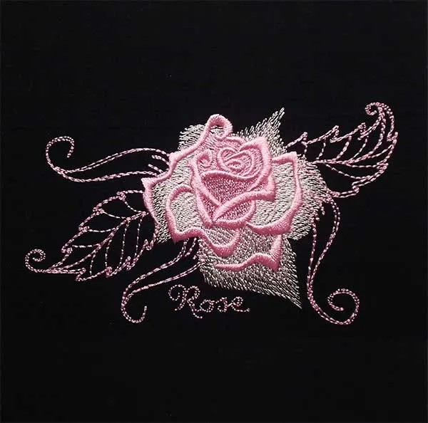 Embroidery Design Gorgeous Rose