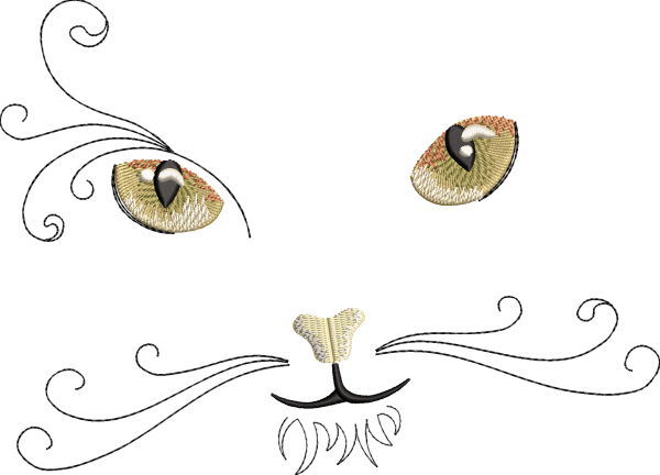 Embroidery Design Cat Face