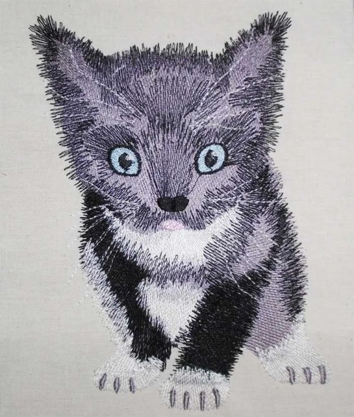Embroidery Design Little Kitten