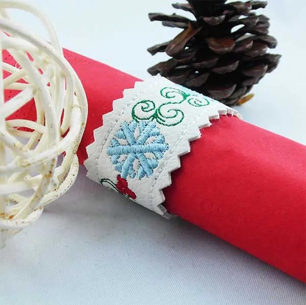 Embroidery Design Snowflake Bookmark ITH