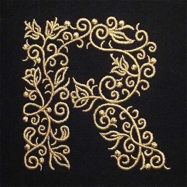 Stickdatei R Fine Ornament