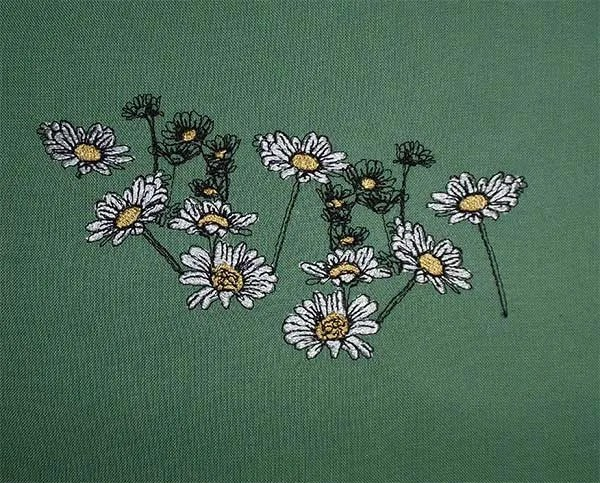 Embroidery Design Daisies Set