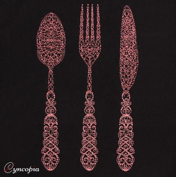 Embroidery Design Cutlery Zendoodle