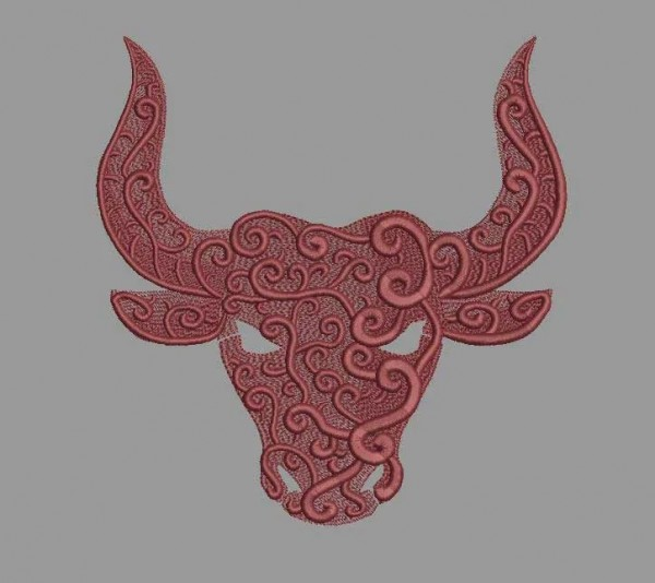 Embroidery Design Star Sign Taurus