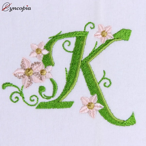 Embroidery Design Marguerites Alphabeth K