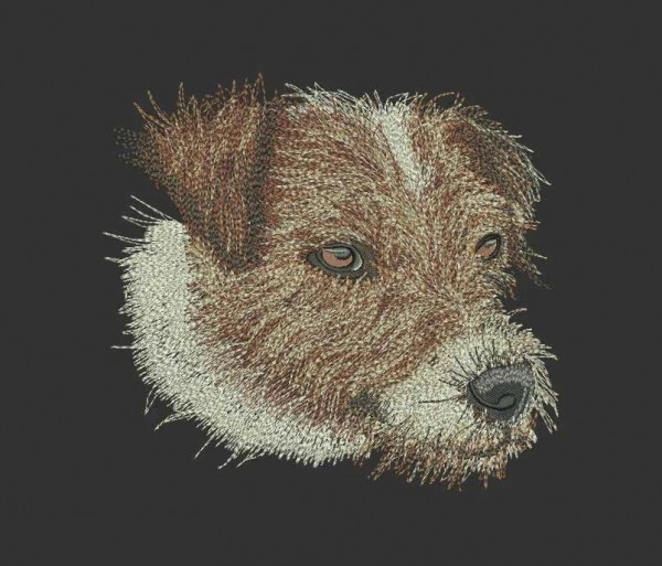 Embroidery Design Parson Russel Nici