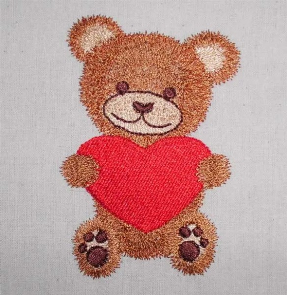 Embroidery Design Teddy with Heart