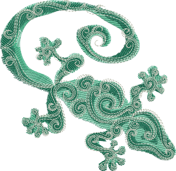 Embroidery Design Salamander