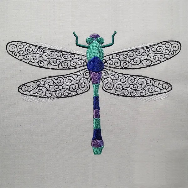 Embroidery Design Dragonfly