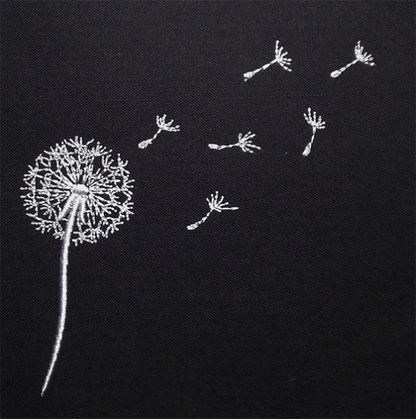 Embroidery Design Dandelion