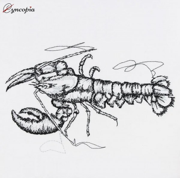 Embroidery Design Lobster Scribble