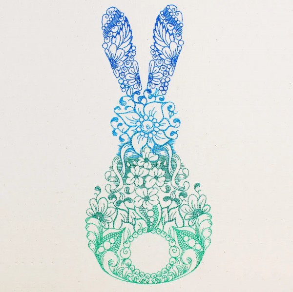 Embroidery Design Rabbit Zendoodle