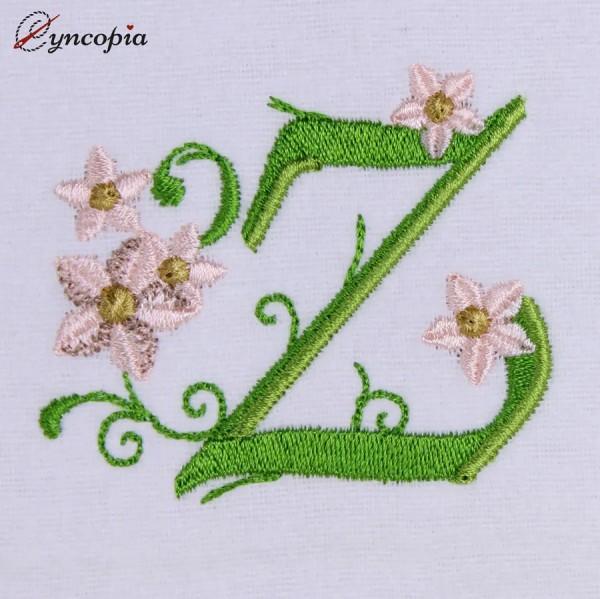 Motif de Broderie l'Alphabet des Marguerites Z