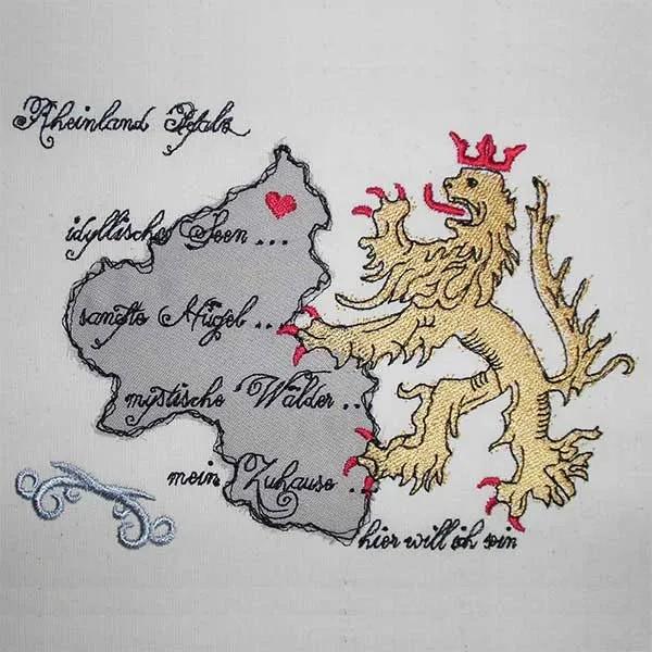 Embroidery Design Rheinland Pfalz Doodle