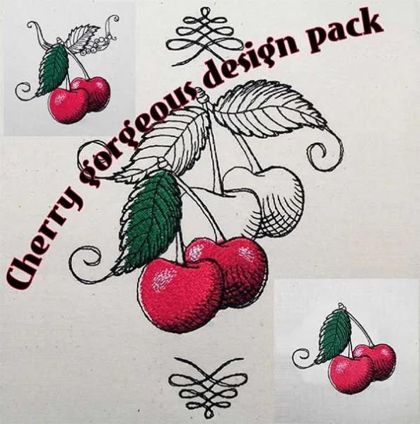 Embroidery Design Gorgeous Cherry Set