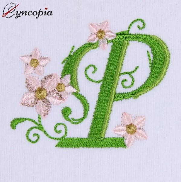 Motif de Broderie l'Alphabet des Marguerites P
