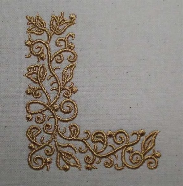 Embroidery Design L Fine Ornament