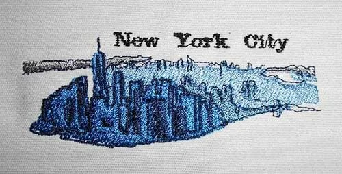 Embroidery Design New York Skyline