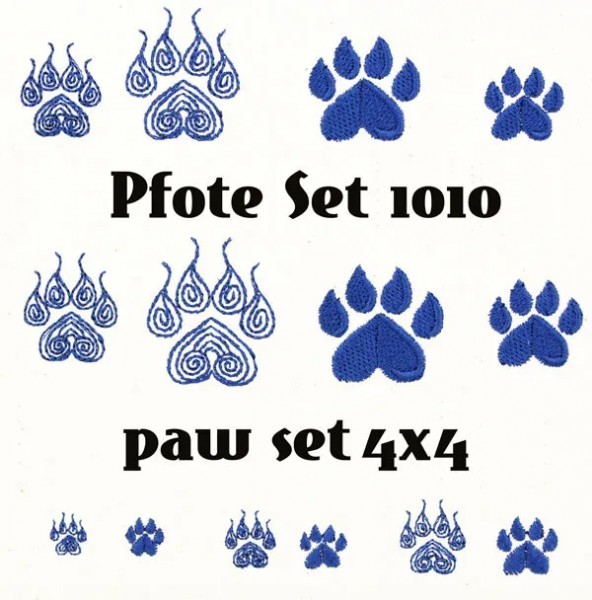 Embroidery Design Paw Mini Set