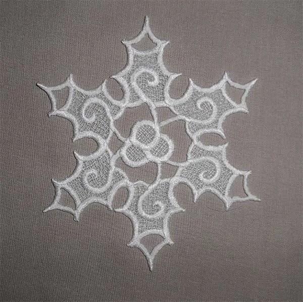 Embroidery Design Star Ilex Lace