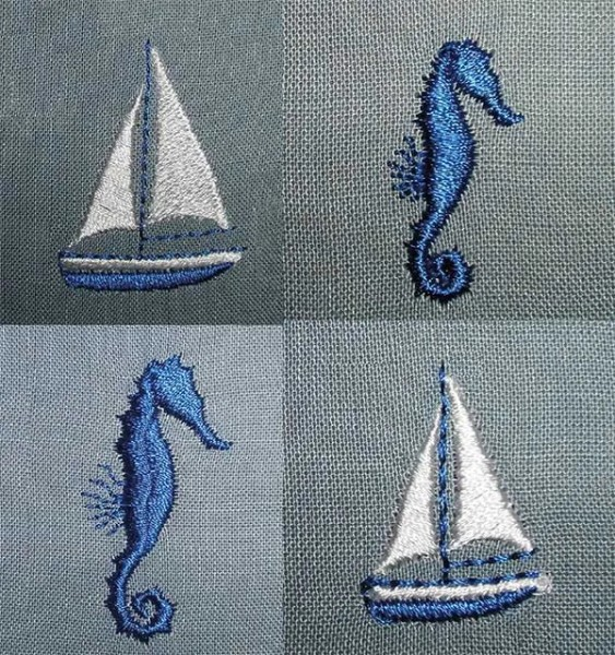 Embroidery Design Nautical Mini Elements
