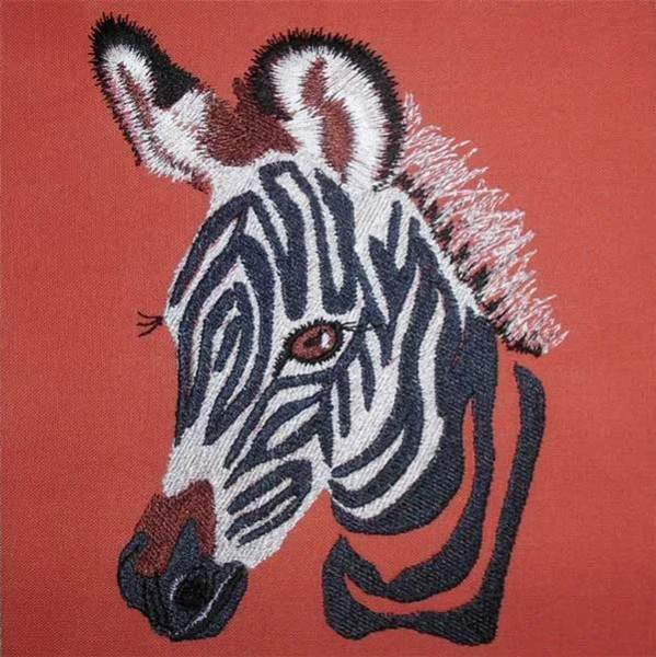 Embroidery Design Zebra