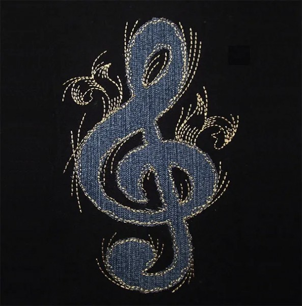 Embroidery Design Clef Doodle Wild