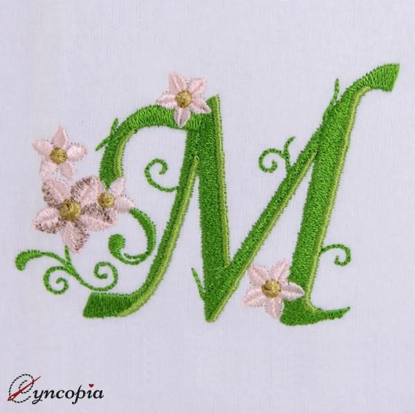 Embroidery Design Marguerites Alphabeth M