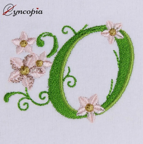 Embroidery Design Marguerites Alphabeth O