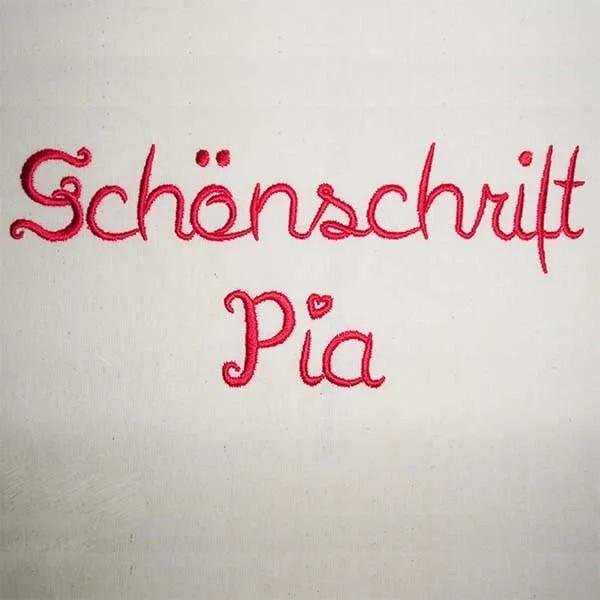 Buchstaben Set Pia