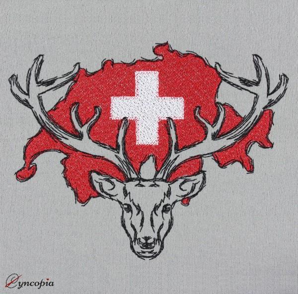 Embroidery Design Deer Switzerland