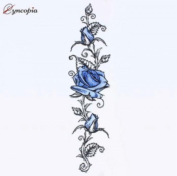 Embroidery Design Rose Romantic No. 9