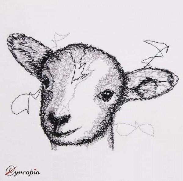 Embroidery Design Lamb scribble