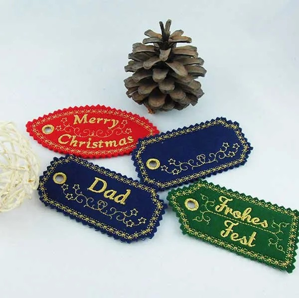 Embroidery Design X-Mas Label ITH