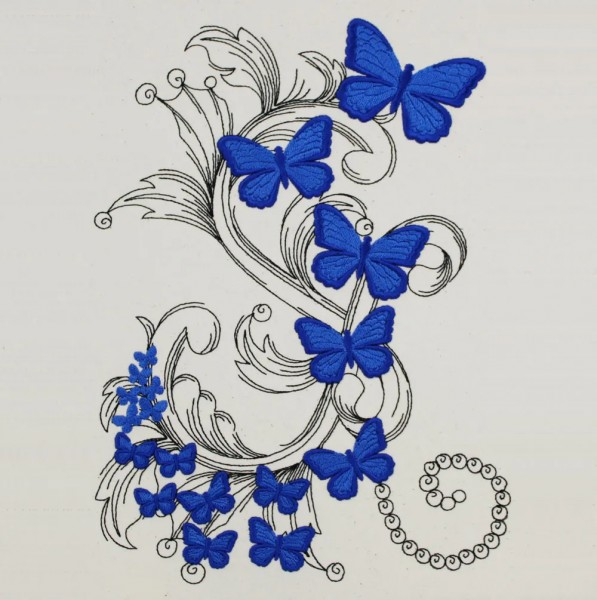 Embroidery Design Butterfly Dream