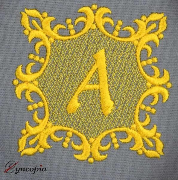 Stickdatei Monogramm Adele Buchstaben
