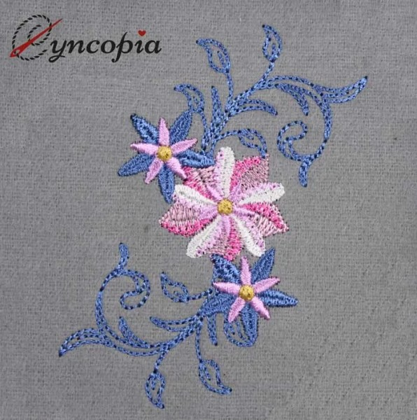 Embroidery Design Flower Ornament 5