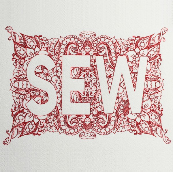 Embroidery Design SEW Invers Zendoodle