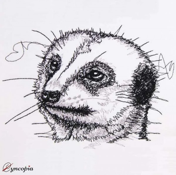 Embroidery Design Meerkat Scribble