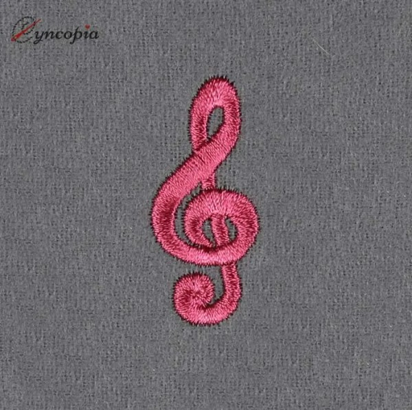 Embroidery Design Basic Music Clef