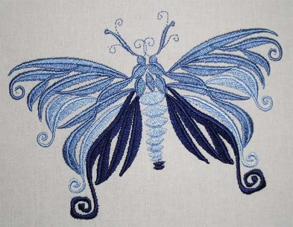 Embroidery Design Moth