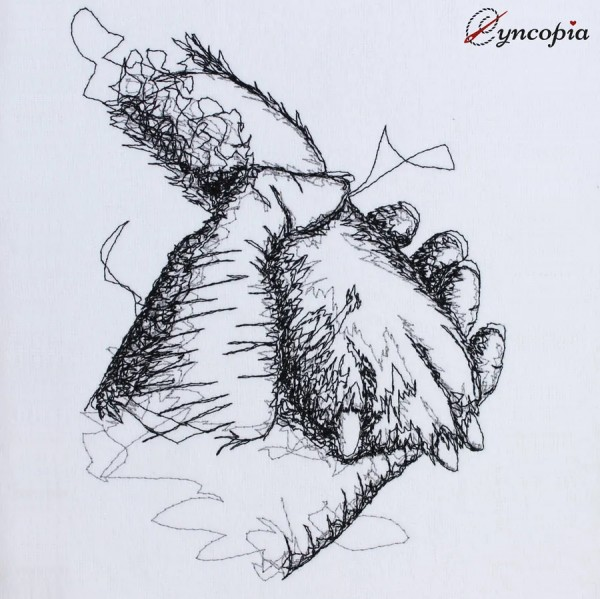 Embroidery Design Paw in Hand scribble